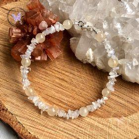 Aragonite & Moonstone Healing Bracelet